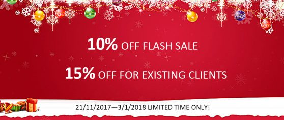 All machines are sold 10% off for Christmas sale